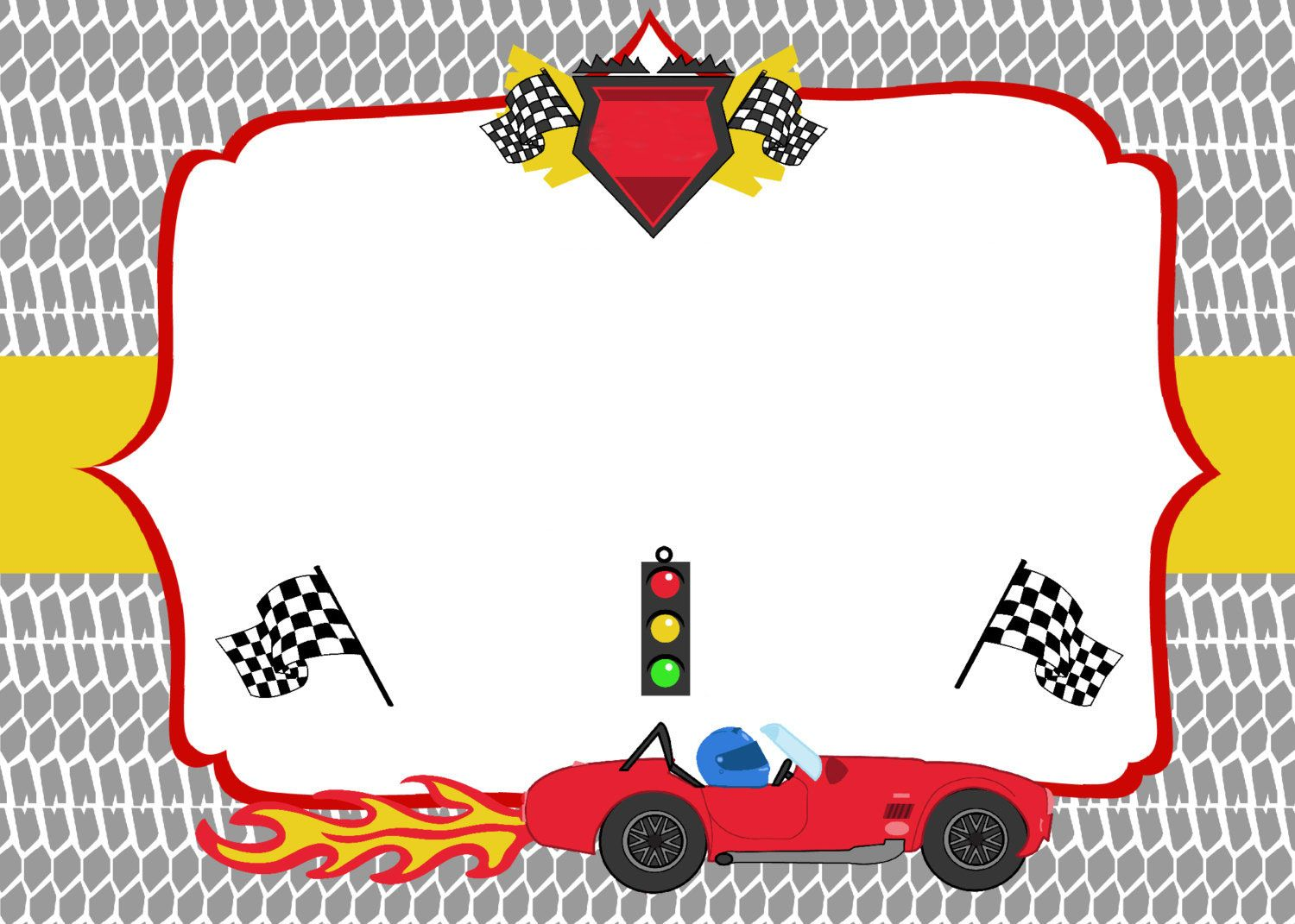 Cars Invitation Card Template Free: FREE Printable Race Car Birthday Party Invitations