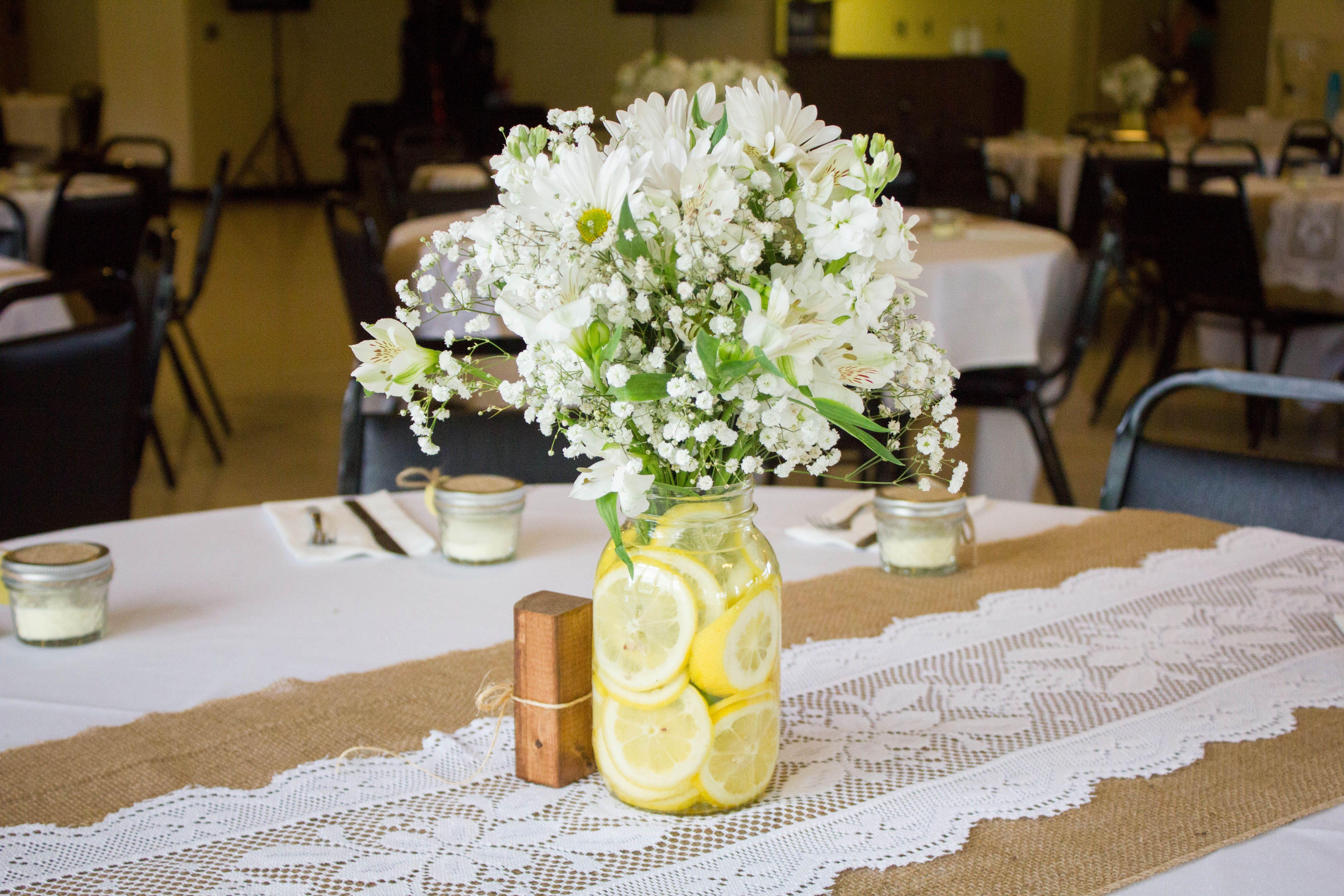 rustic country wedding burlap lace runner lemon ... - photo#46