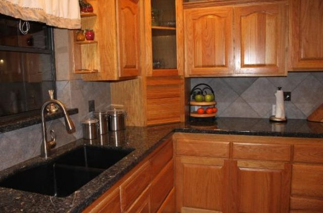 Backsplash Ideas For Blue Pearl Granite American Countertop
