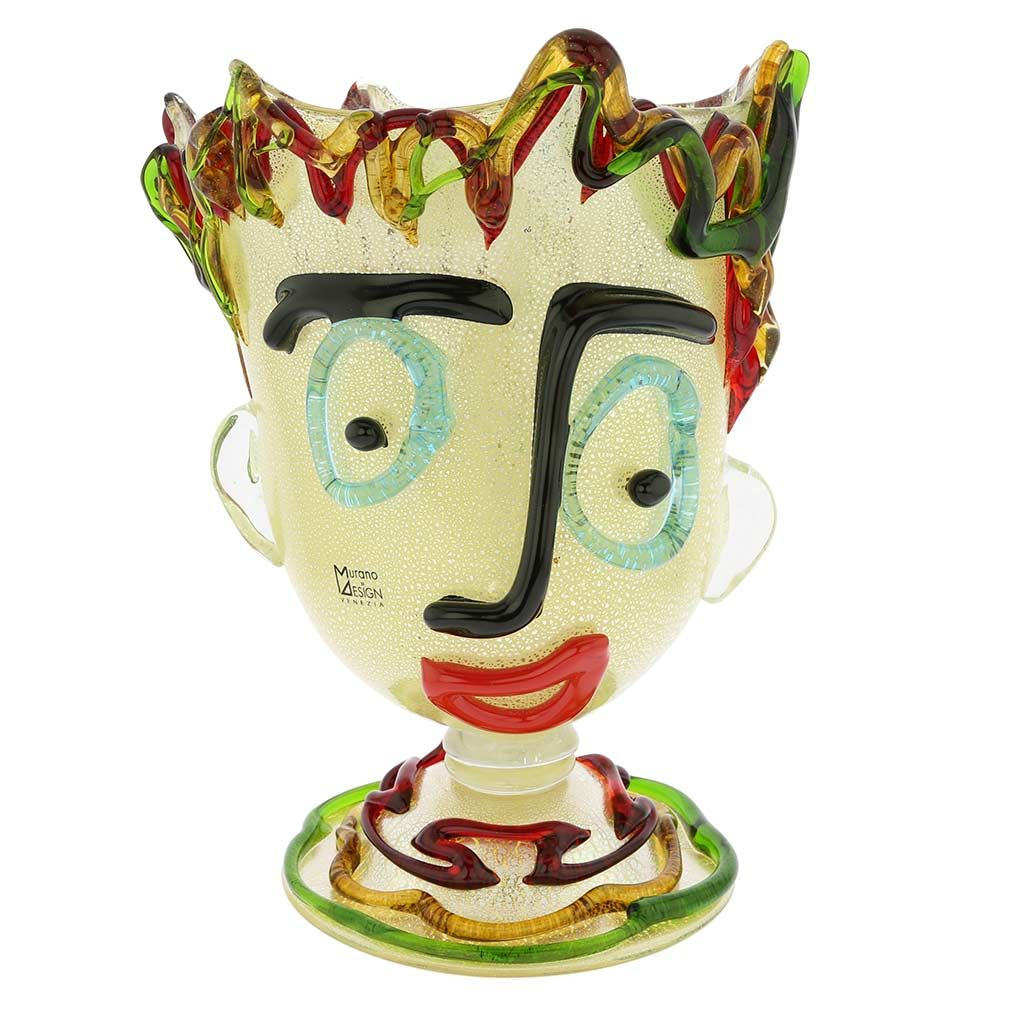 Murano Glass Picasso Head On Base Vase | Murano glass, Picasso and Glass