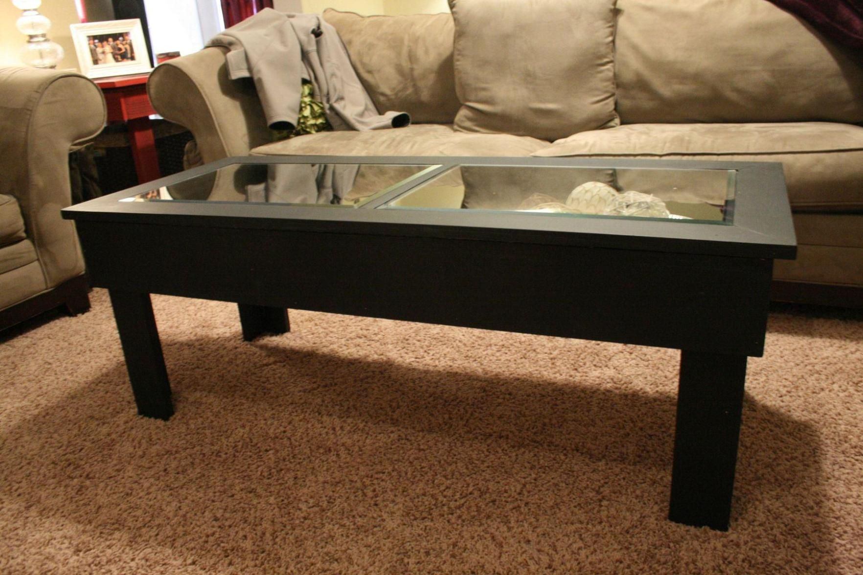 Couchtisch Riverside Glass Top Dark Wood Coffee Table Glass Table Couchtisch