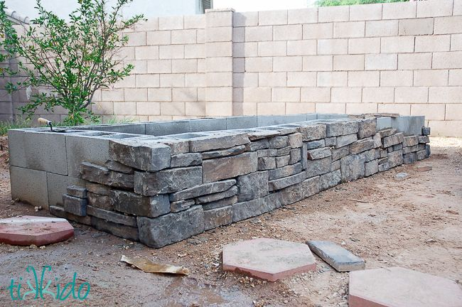 How To Build A Raised Garden Bed Tutorial Building A Raised Garden Cinder Block Garden Garden Stones