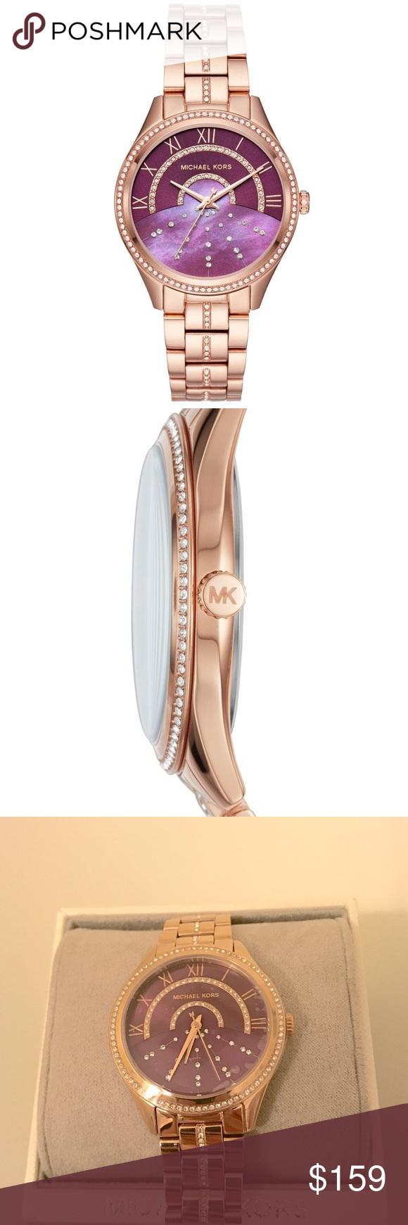 4cd928a01a77 Michael Kors Lauryn Rose Gold-Tone Bracelet Watch Michael Kors Women s  Lauryn Rose Gold-