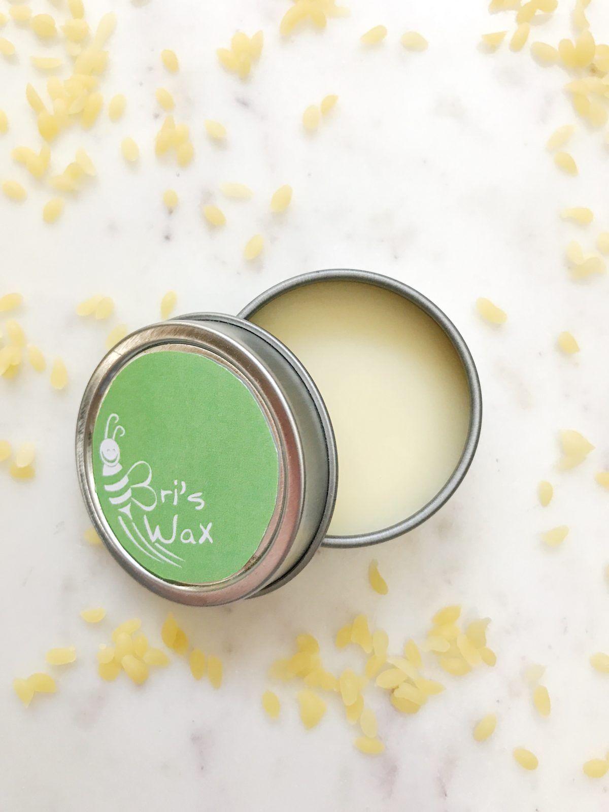 Diy homemade natural lip balm made with beeswax and