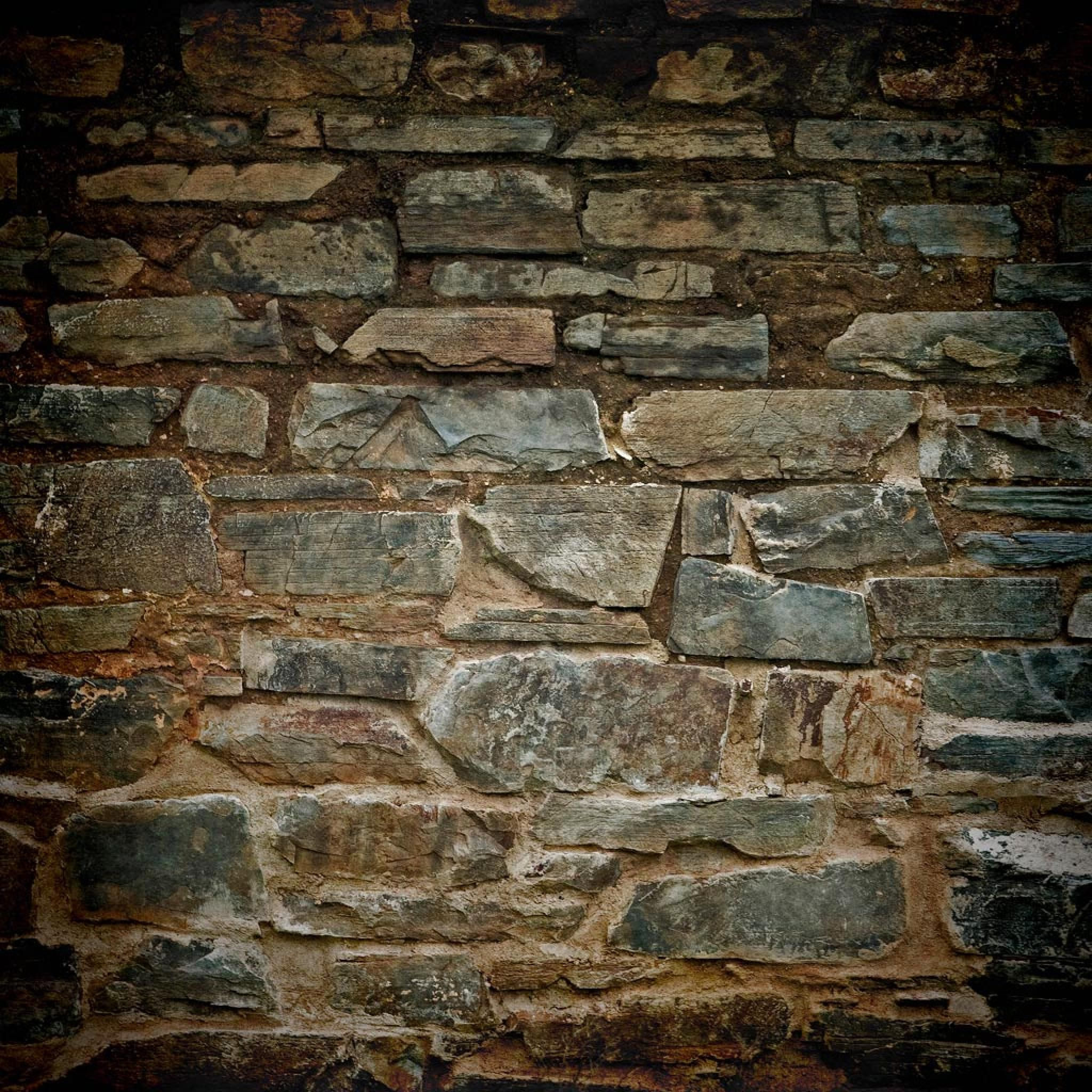 Backgrounds hd old stone brick wall texture wallpaper for for Black 3d brick wallpaper