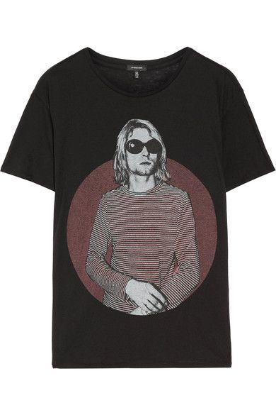 R13 Kurt Boy Printed Cotton And Cashmere-Blend T-Shirt. #r13 #cloth #tops
