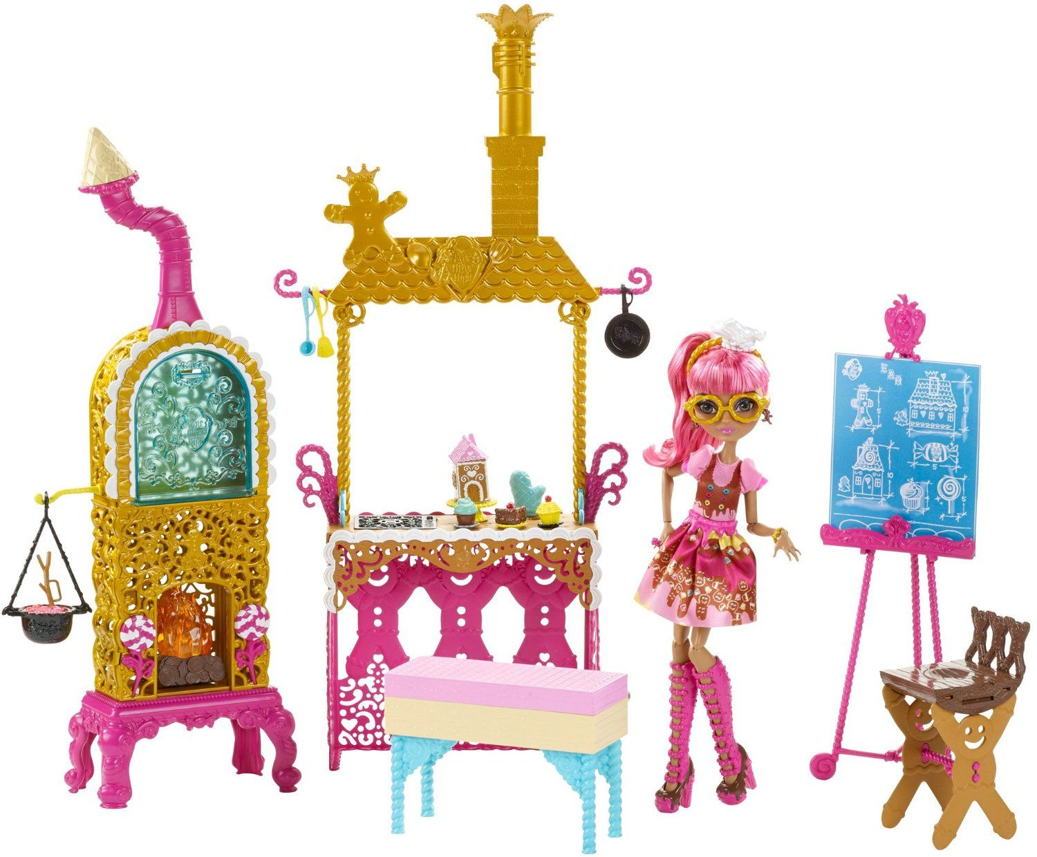Ever After High Sugar Coated Kitchen with Ginger Breadhouse Doll ...