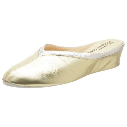 18b821638 Jacques Levine Women s 4640 Throat Collar Scuff Slipper