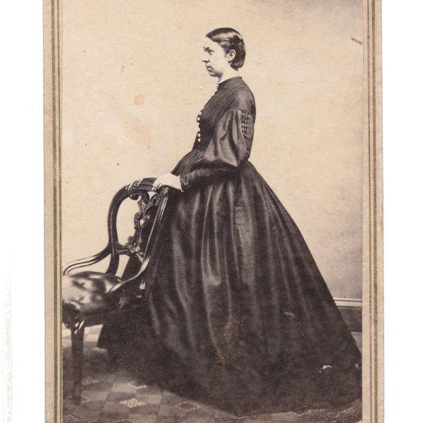 1 Cent Tax Stamps Civil War Lady Profile Hoopskirt by Kline Catasauqua PA CDV | eBay