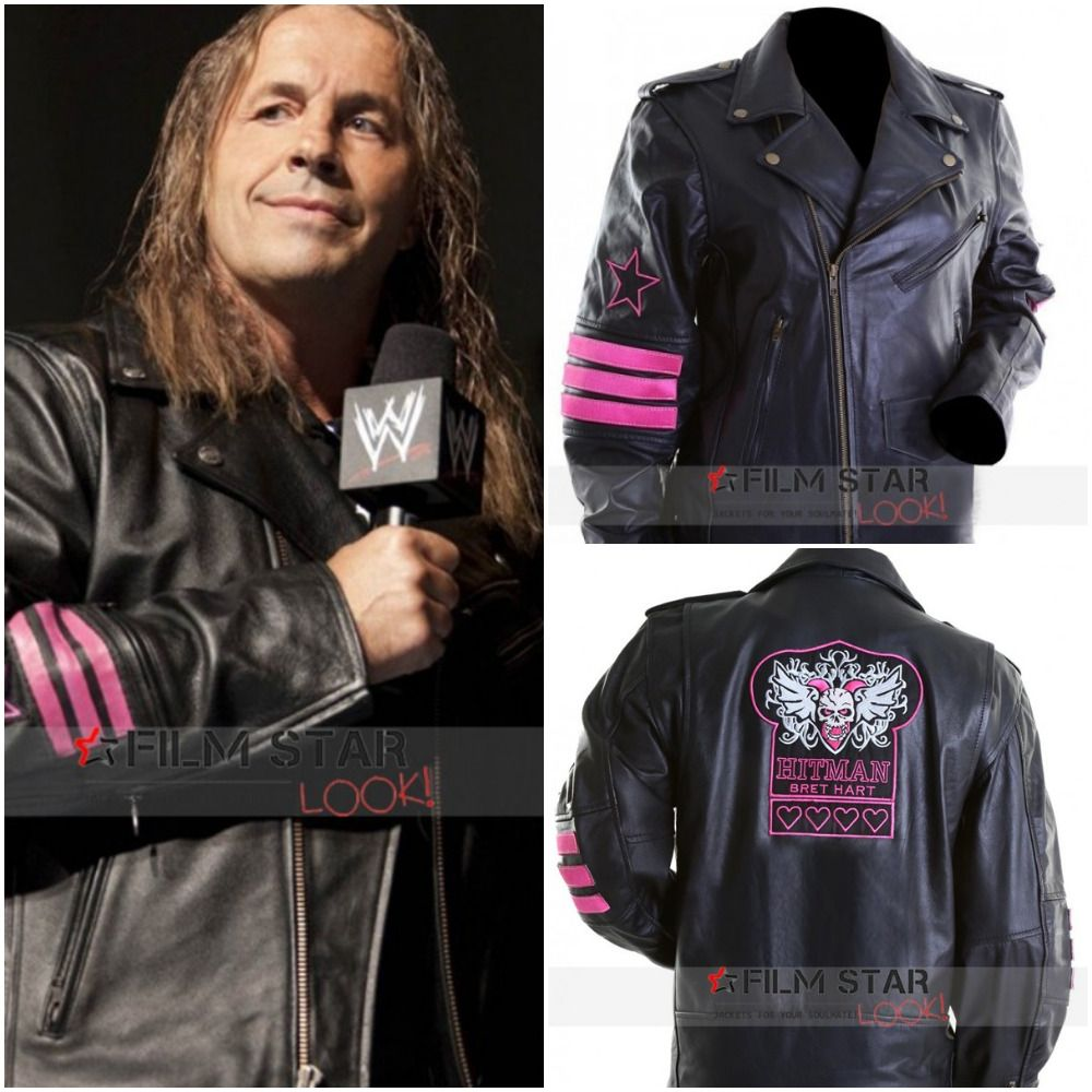 The Hitman Hart Leather Jacket Is Seriously The Most Famous Product Of Wwe That Is World Wide Wrestling Our Cra Jackets Leather Jacket Genuine Leather Jackets [ 1000 x 1000 Pixel ]
