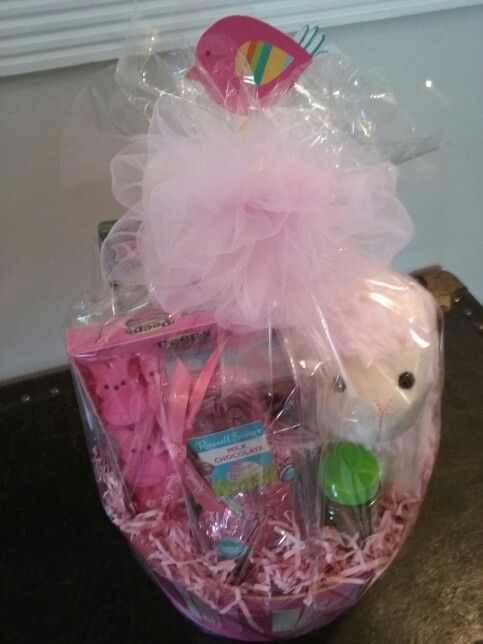 Baby girl easter basket rustic easter cakes and baskets baby girl easter basket negle Choice Image
