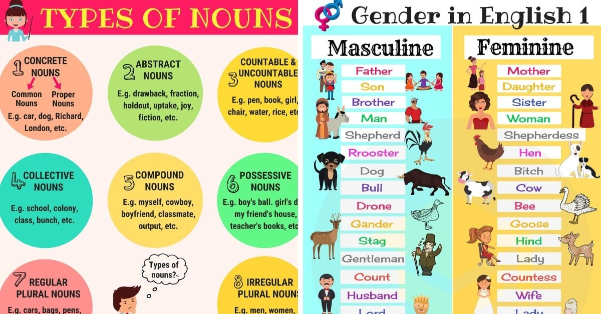 NOUNS: What is a Noun? Useful Rules, List & Examples   What ...