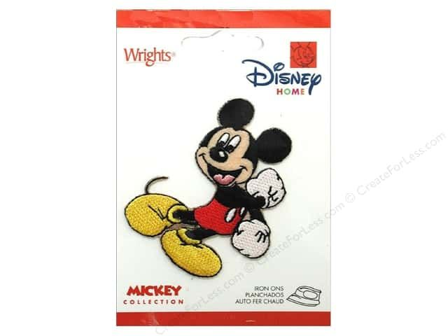 Wrights Appliques Disney Iron On Mickey Mouse