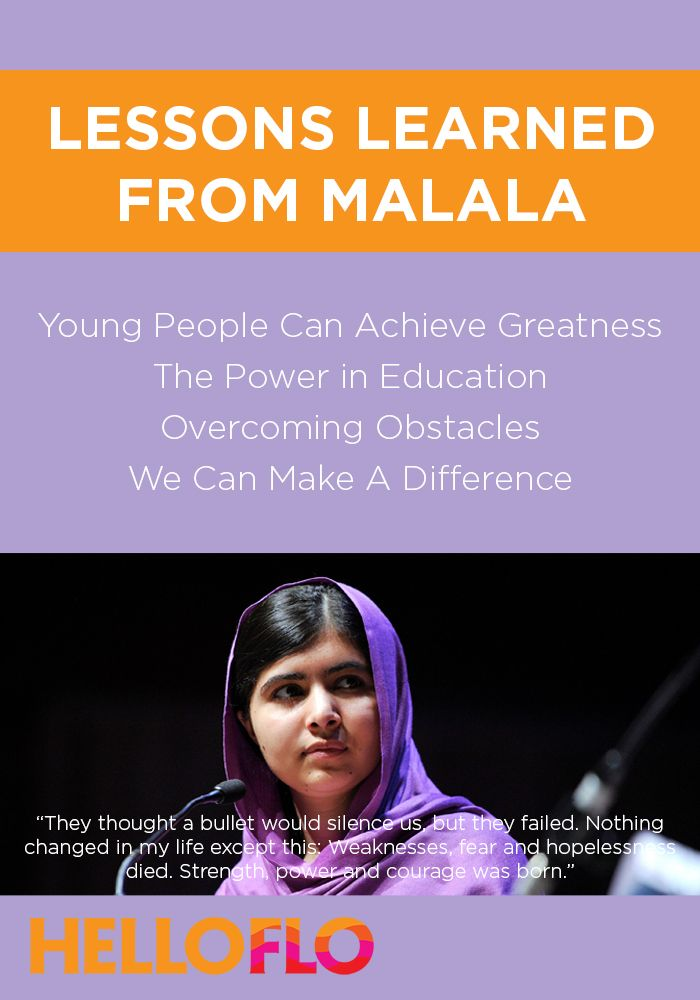 4 Lessons We Should All Learn From Malala Yousafzai Right To Education Malala Lessons Learned