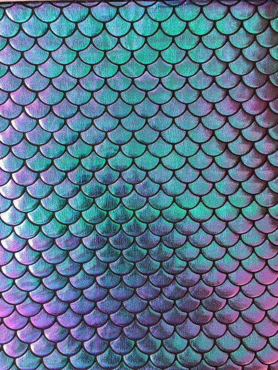 Magic Mermaid Leggings- four tone metallic scales, turquoise and purple, fish scale, dragon ...