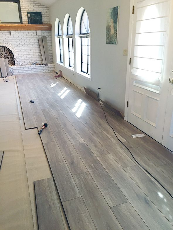 Unique Laminate Flooring On Concrete Basement