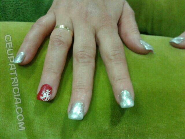 Relleno de gel con decoracion navideña | Uñas | Pinterest