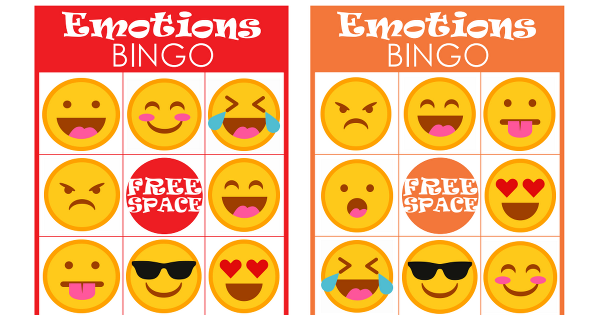 photograph relating to Emoji Feelings Printable known as Feelings Bingo Printable Recreation for Young children.pdf Perform Procedure