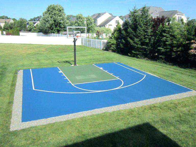 Backyard Basketball Court Cost In 2020 Basketball Court Backyard