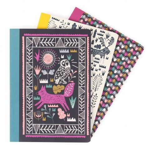 Nordic Nights A5 exercise books - set of 3