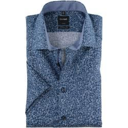 Photo of Olymp Luxor short sleeve shirt, modern fit, Global Kent, Royal, 40 Olymp