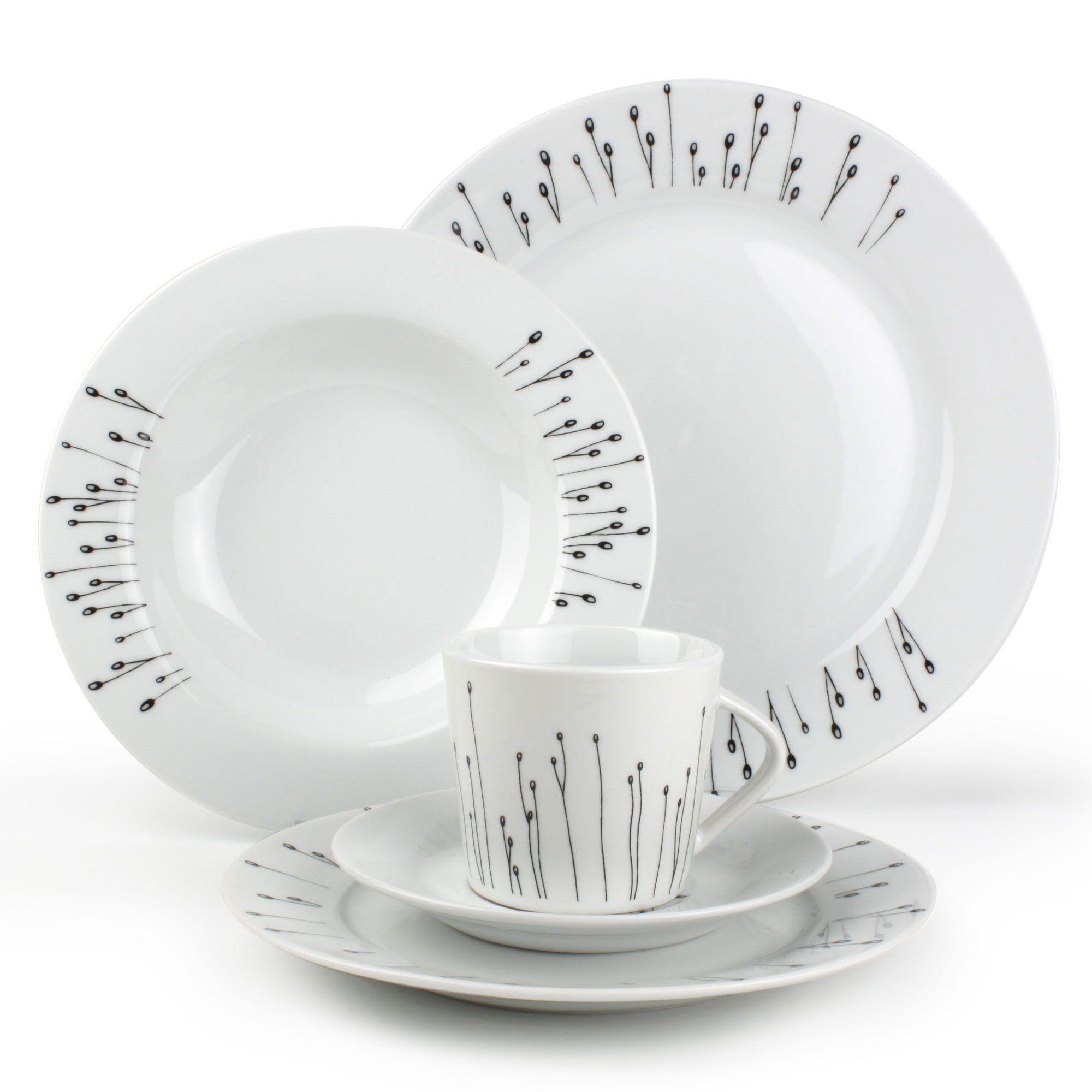Service de table noir et blanc   Maison bois legallo aad6d2245364