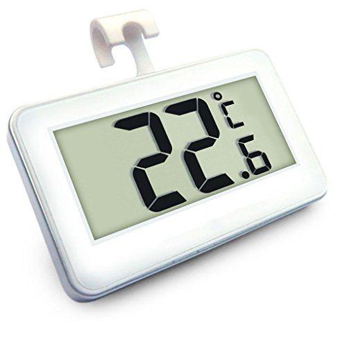 Hoohye Thermometre Numerique Refrigerateur Congelateur De Chambre Avec Aimant Crochet De Suspension Blanc Refrigerateur Congelateur Suspension Blanche Refrigerateur