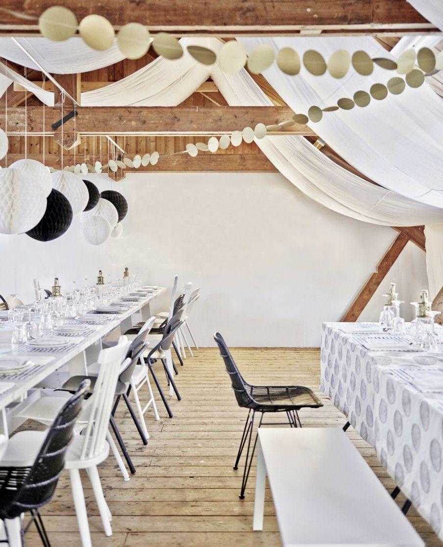 Afbeelding tafel decoratie stoelen event styling for Goud zwart versiering