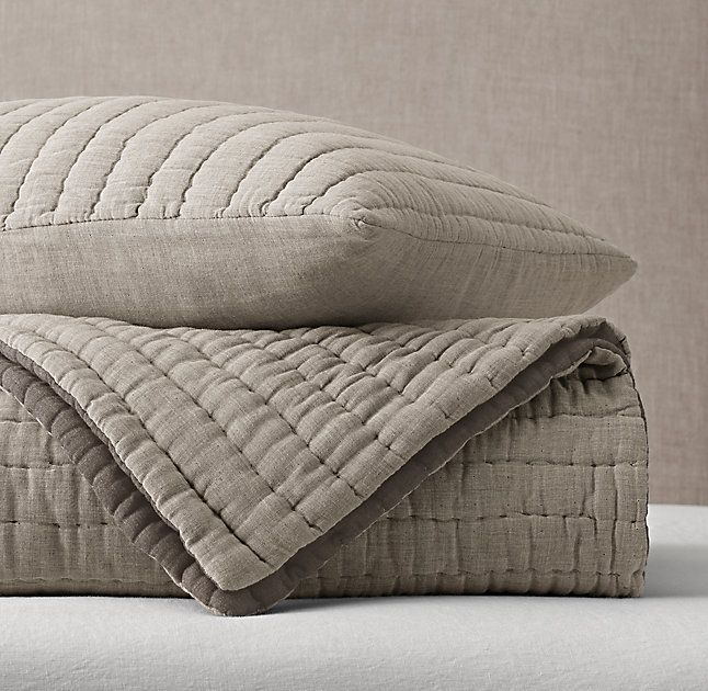 Rh Modern 39 S Heathered Cotton Voile Quilt Amp Sham Free Shippingour Cotton Voile Is Woven In Gently Heathered Tones Voile Quilts Quilted Sham Cotton Voile