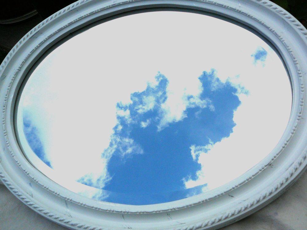 Spiegel weiß oval Shabby-chic, Dekoration, Landhausstil, | Shabby ...
