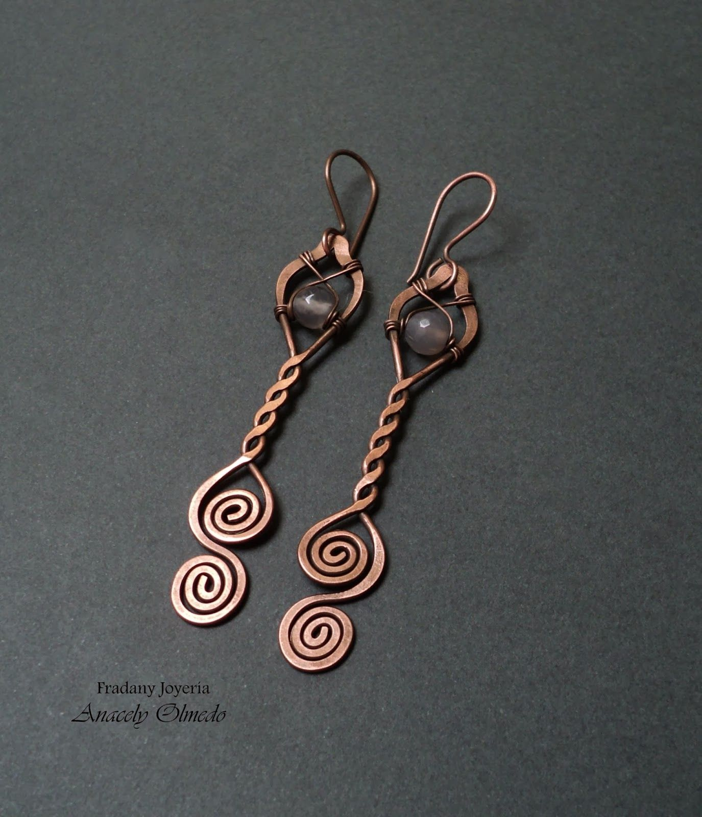 Free Wire Jewelry Making Tutorial Pendant Or Earrings Picture Otherwise In Spanish But No Words Needed
