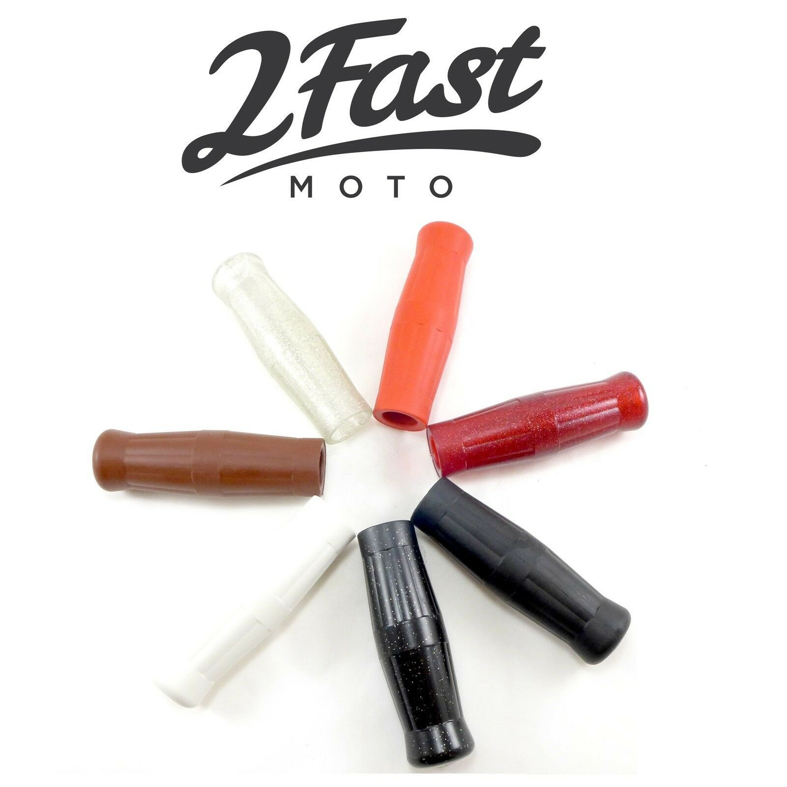 "2FastMoto Coke Bottle Grips 1/"" Handlebars Old School Cruiser Harley Davidson"