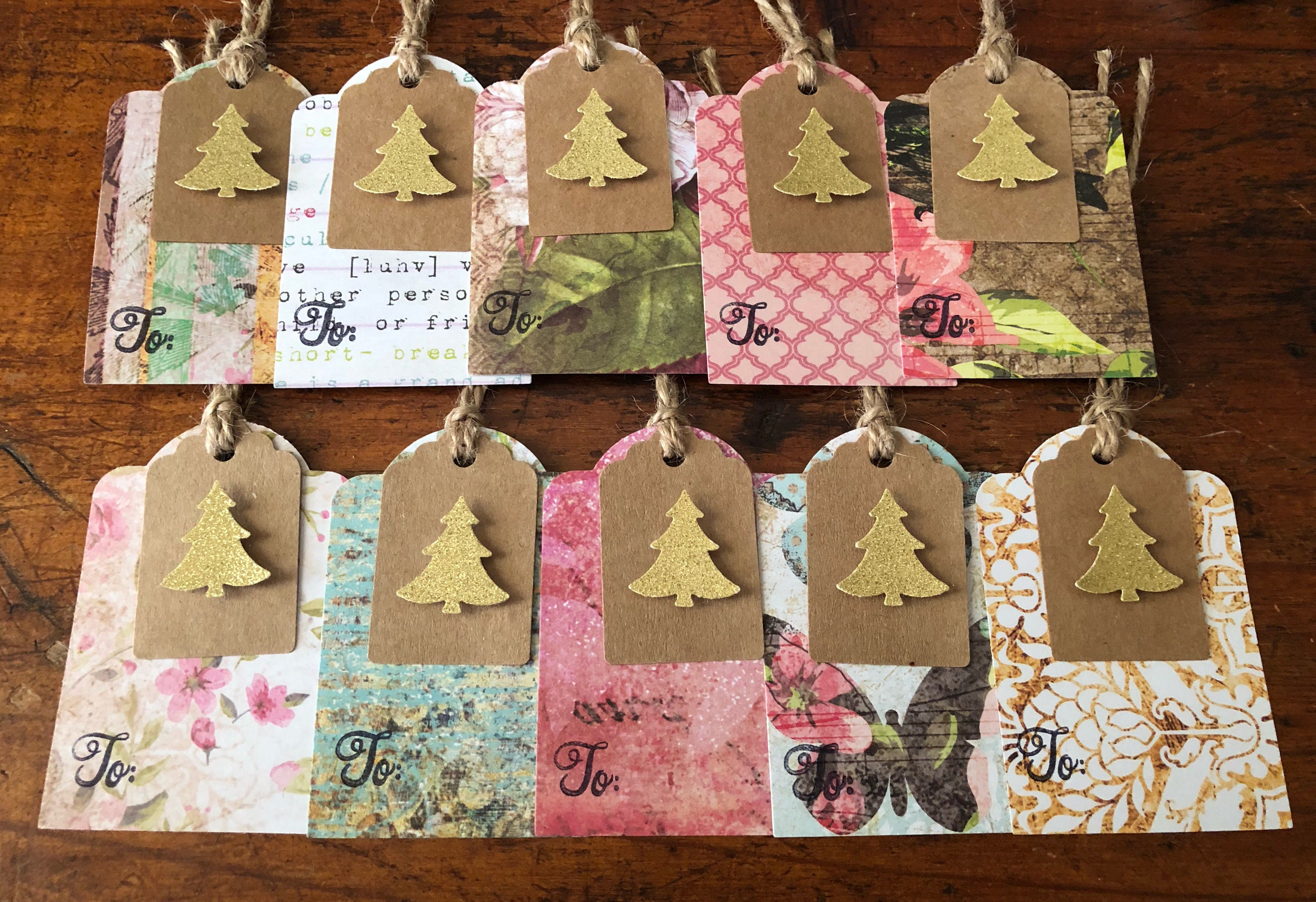 Christmas gift tags Floral and Butterflies | Christmas ...
