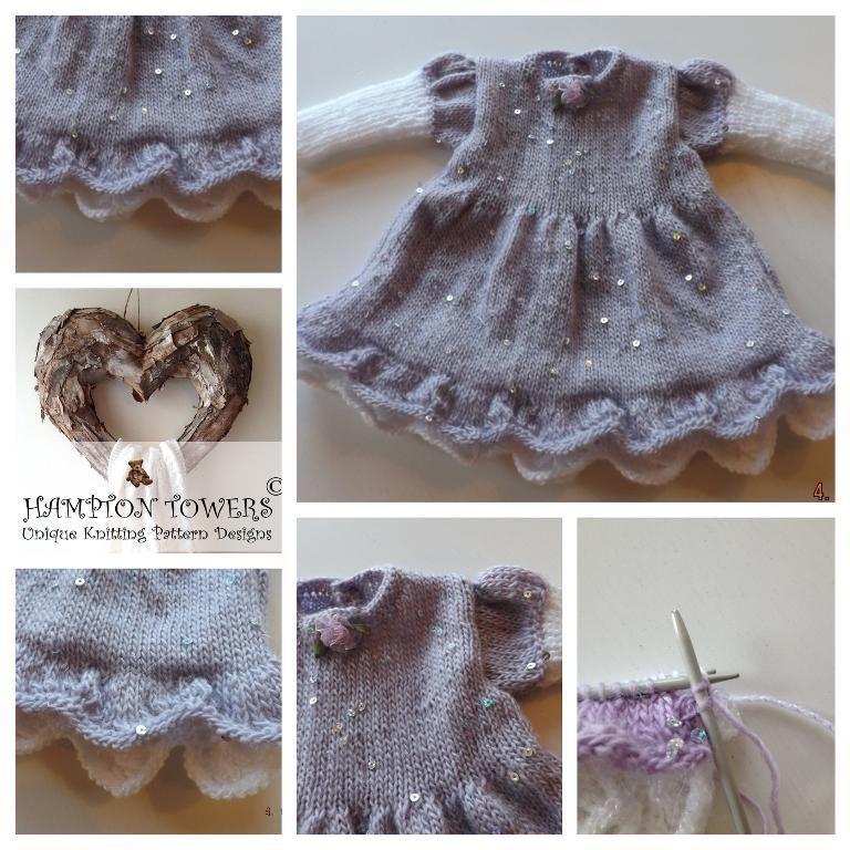 Baby Knitting Pattern Linzi Dress Premature - 1yr | Baby knitting ...