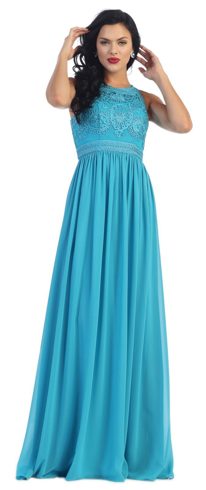 May Queen MQ1289 Empire Waist Prom Dress (4, Fuchsia). Spot Clean ...