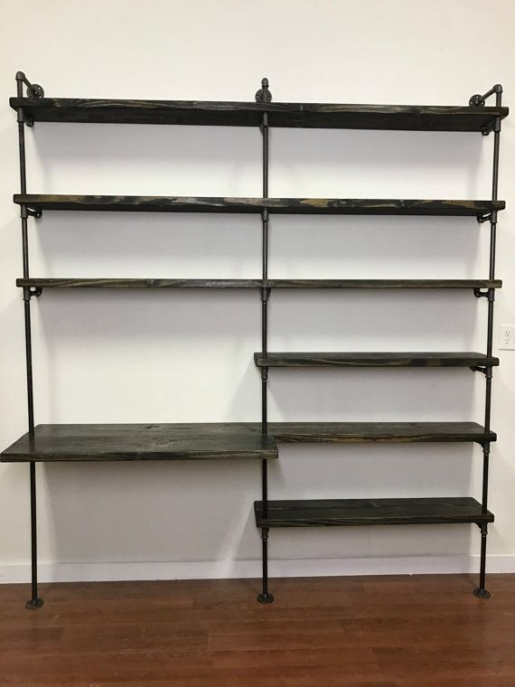 office shelf unit. Industrial Desk - Pipe Shelving Unit With Home Office Furniture Shelves Shelf