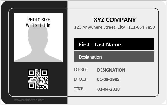 DOWNLOAD at   mswordidcards/employee-id-cards/ MS Word ID