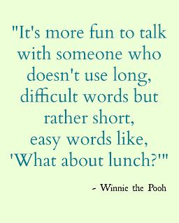 What About Lunch Winnie The Pooh Quote Disney Pooh Quotes Funny Quotes Quotes