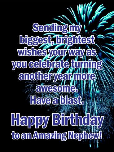 Have A Blast Happy Birthday Card For Nephew Birthday Greeting Cards By Davia Birthday Wishes For Nephew Birthday Message For Nephew Birthday Card For Nephew