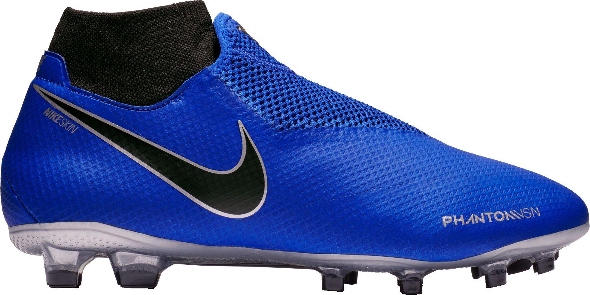 Nike Phantom Vision Pro Dynamic Fit Fg Soccer Cleats Men S Size M6 5 W8 Blue Soccer Cleats Soccer Shoes Nike