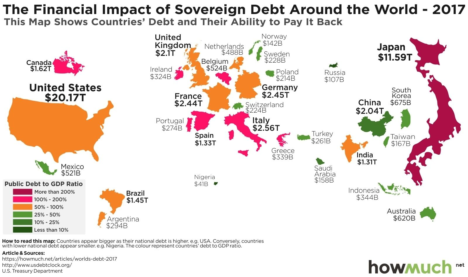 This map shows countriess debt and their ability to pay it back this map shows countriess debt and their ability to pay it back gumiabroncs Choice Image