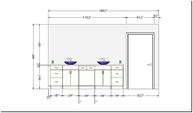 Ada Bathroom Countertop Height Cover