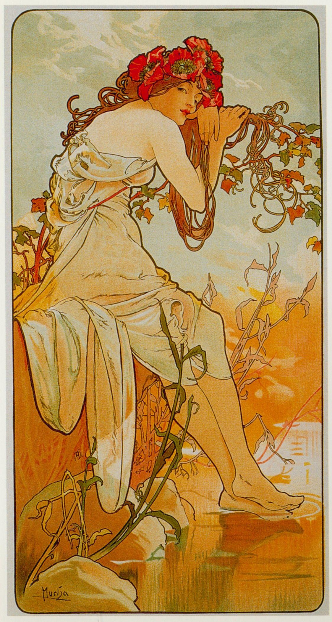 Alfons Mucha-Seasons-Summer | Wonderful World | Alphonse ...