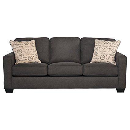 Ashley Furniture Signature Design Alenya Sofa With 2 Throw Pillows Microfiber Upholstery Vintage
