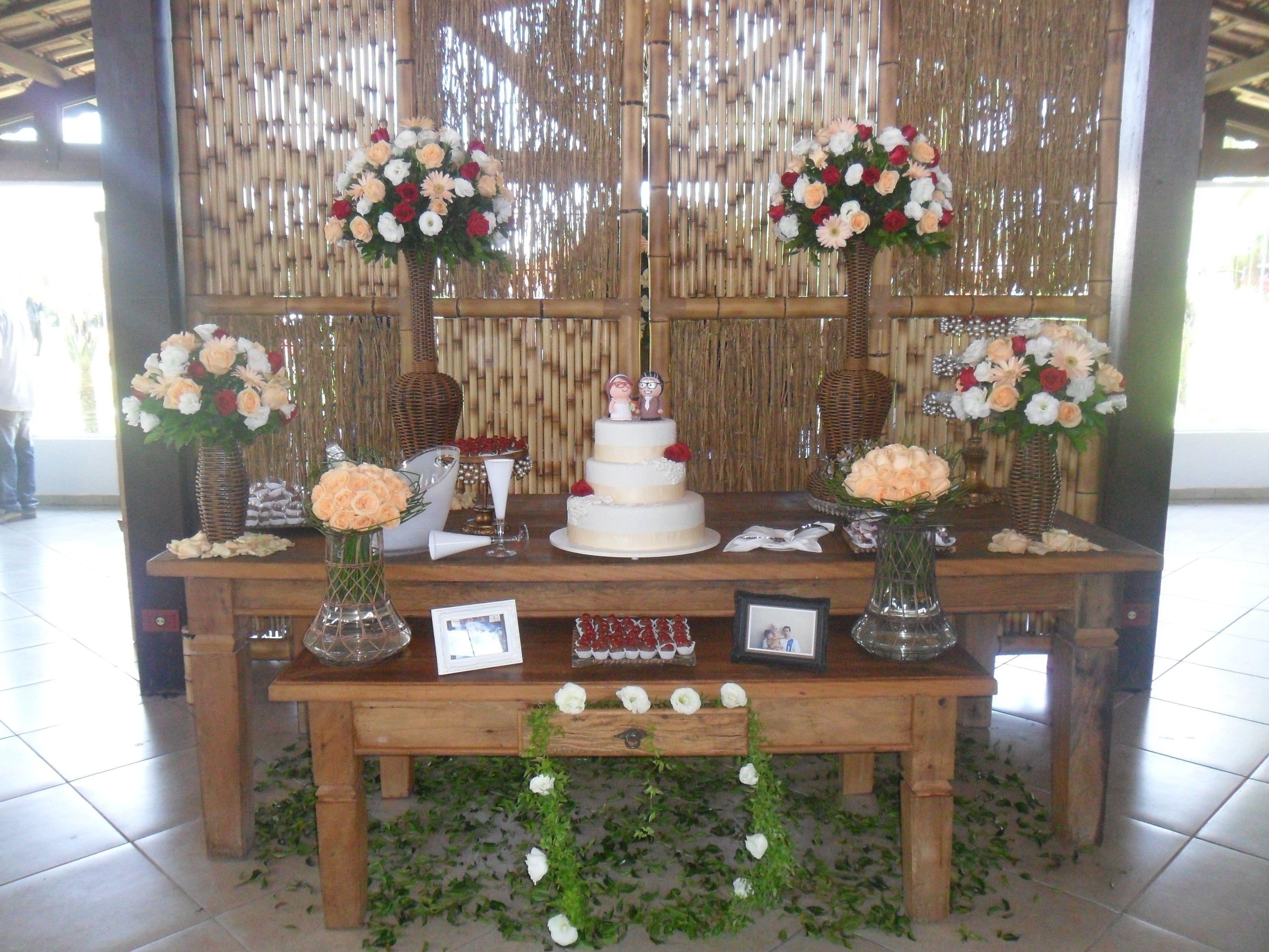 Mesa de bolo de madeira r stica festa v pinterest for Decoracion mesa rustica