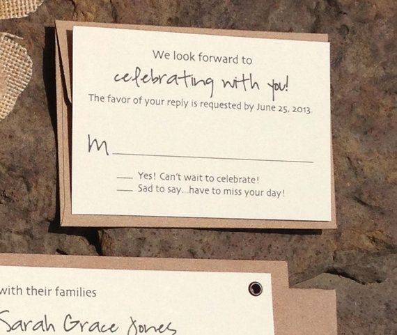 Little RSVP cards to be included in the invites | Wedding Ideas ...
