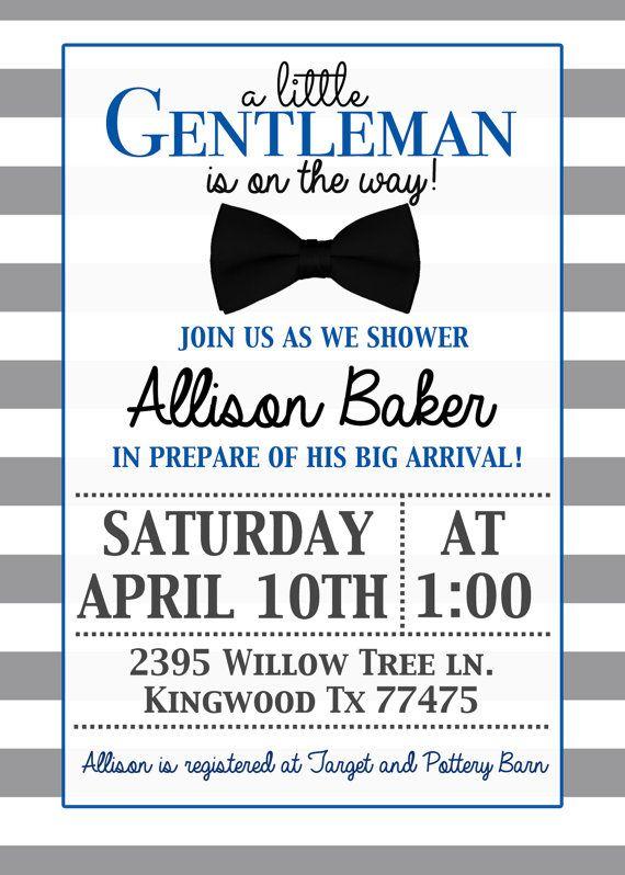 Little gentleman baby shower invitation with by deerlydesigned little gentleman baby shower invitation with by deerlydesigned filmwisefo