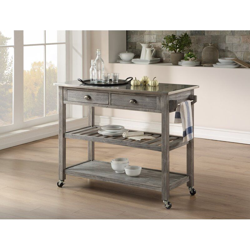 Weldona Kitchen Cart With Stainless Steel Top Kitchen Cart Kitchen Trends Kitchen Furniture
