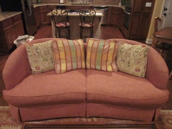 Woodmark 2 Cusion Couch And Woodmark Chair. Worth Over $1500 Selling For  $550 Or Best Offer. Pillows Included
