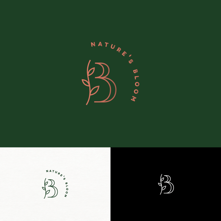 Nature's Bloom Floral Branding -   15 beauty Care logo ideas